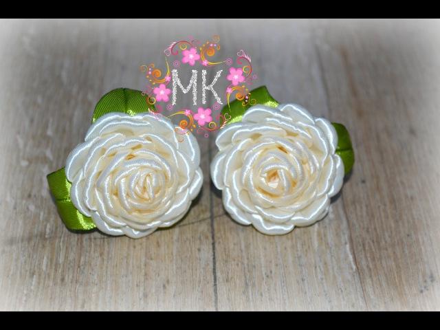 DIY.Rose.MK Маленькі резинки з атласної стрічки 2,5 см.