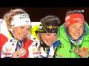 VM Oslo 2016 Womens 15km MEDAL ceremony - Mrin-Habert, A.Bescond, L.Dahlmeier