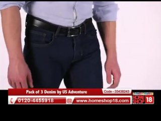 Homeshop18.com - Jeans Dhamaka- Pack of 3 Pairs of Jeans By US Adventure