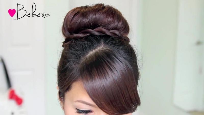 Twisted Sock Bun Updo Hairstyle - Long Hair Tutorial » Freewka.com - Смотреть онлайн в хорощем качестве