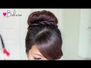 Twisted Sock Bun Updo Hairstyle - Long Hair Tutorial