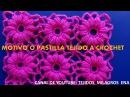 Motivo tejido a crochet FLORES en punto garbanzo especial para blusas y ponchos a crochet