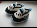 Вязаные крючком пинетки кроссовки найк вариант 2