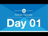 A1-B1 German Grammar Course  Day 01-Article Signals