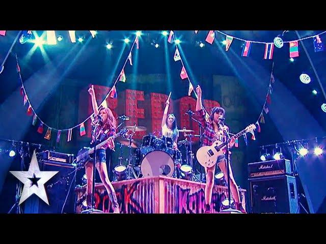 "Female Rockers Bebop Cover Foot Loose"" Asia's Got Talent Semis 2"