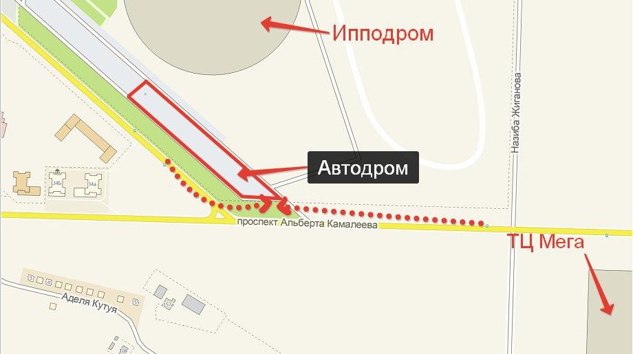 площадка автошколы Авто-Премиум