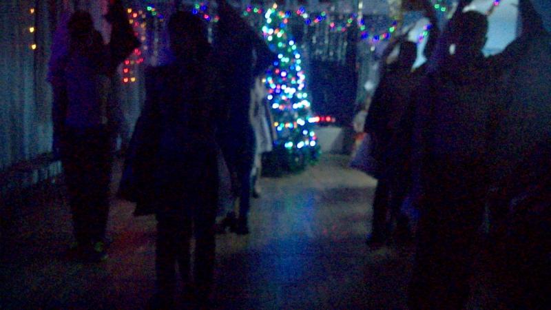 новогодний танец 9 ого класса Ангелы и демоны*