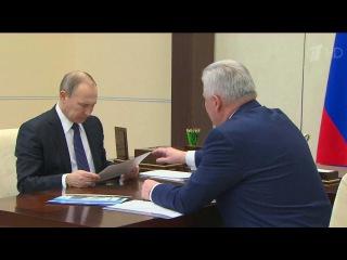 Владимир Путин провел рабочие встречи с главами Бурятии и Тывы