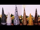 DIY Cone Table Decors For Christmas New Year Ornaments