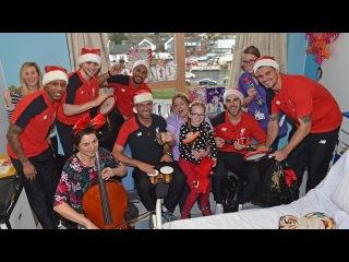 Jurgen Klopp joins in festive singalong at Alder Hey