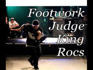 Footwork Judge's showcase. KING ROCS (I Love Footwork crew). Kobe De Battle