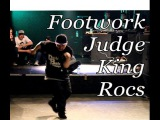 Footwork Judge's showcase. KING ROCS (I Love Footwork crew). Kobe De Battle