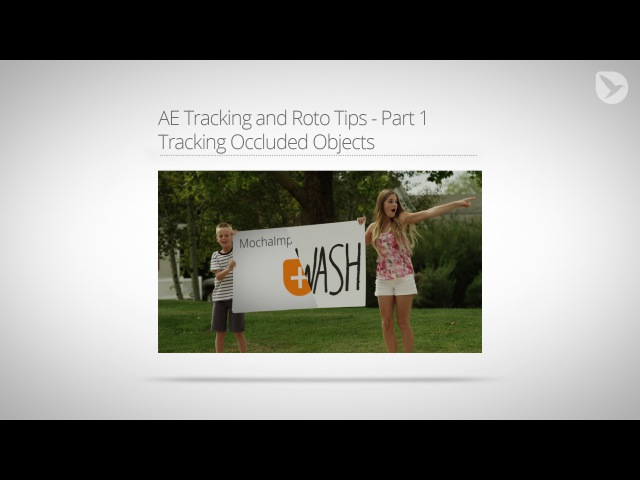 After Effects Tutorial Tracking Occluded Objects with mocha AE Tracking and Roto Tips Part 1