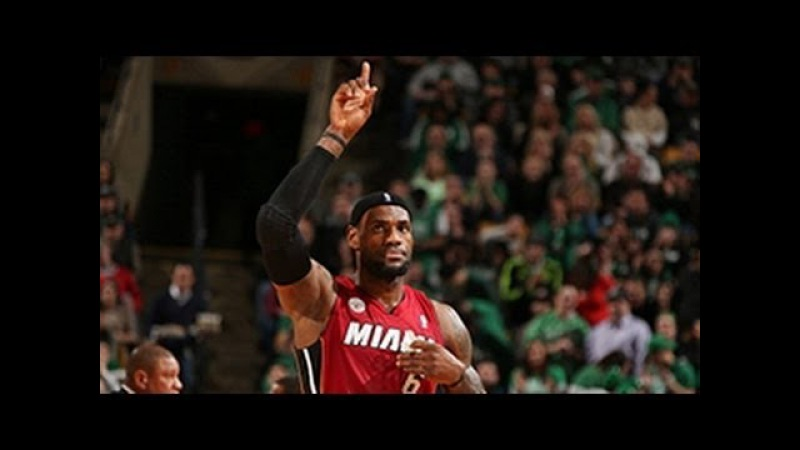 LeBron James' MONSTER alley-oop slam vs Celtics!