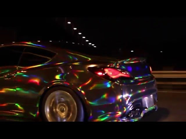 HOLOGRAPHIC CHROME CAR, holographic chrome vinyl wrap. By @CKWRAPS