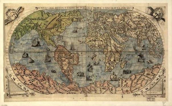 Карта 1565 года, где Черкесия указывается независимым Государством.