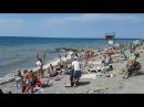 Дикий каменный пляж в Анапе 18.08.2016 - 11 утра