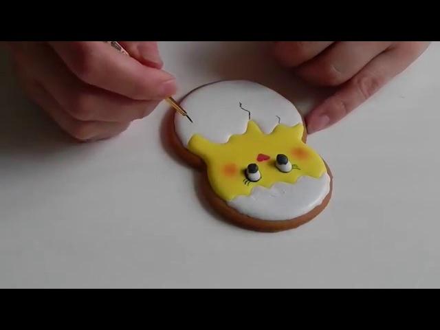 Пряник Пасхальный цыпленок в скорлупе Easter Chick Cookie