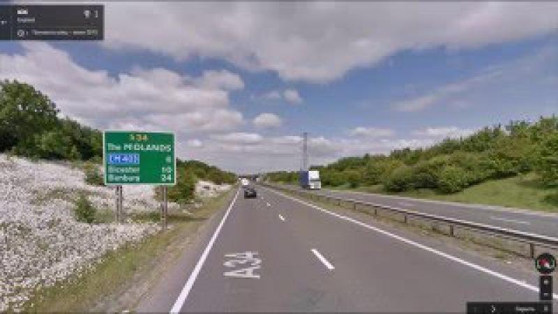 Часть 44. Дорога Оксфорд - Уорик. Part 44. Road Oxford - Warwick.