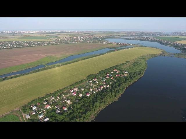 Гребной канал в Одесской области с высоты птичьего полета