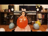 PUMP THE HUGE BALLOONS AND FETCH FOR ENJOYEMNT LOONER GIRL