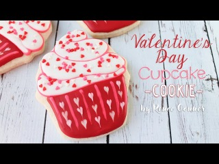 (vk.com/LakomkaVK) Valentine's Day Cupcake Cookie | Renee Conner
