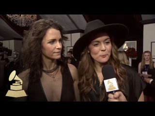 Brandi Carlile with Tyler Oakley | Red Carpet | 58th GRAMMYs