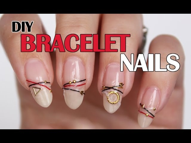 Bracelet Nails DIY | How to create your own bracelet nails with nail polish string