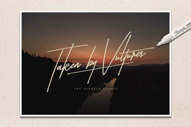 Download taken by vultures font (typeface)