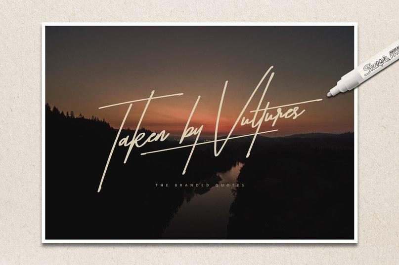 Download taken by vultures font (typeface)