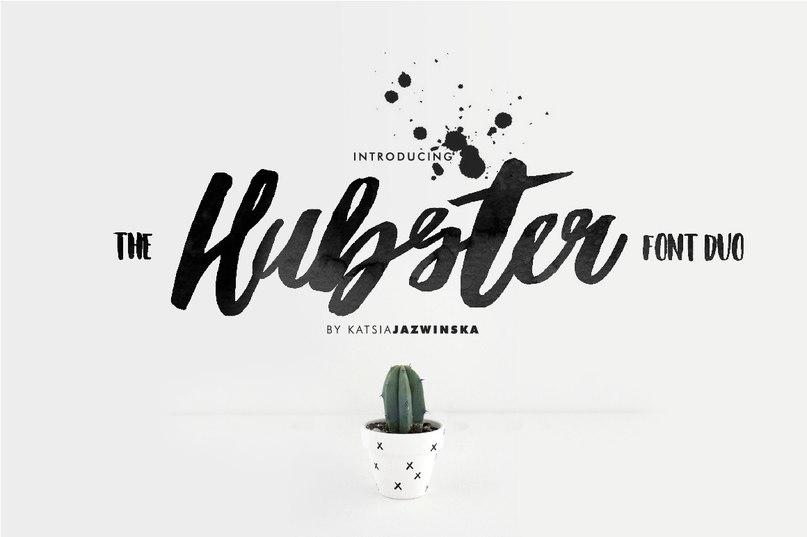 Hubster шрифт скачать бесплатно