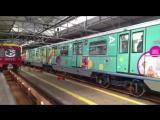 Первый пошёл! Сегодня утром из электродепо «Красная Пресня» на Кольцевую линию вышел первый поезд «Портрет в метро»