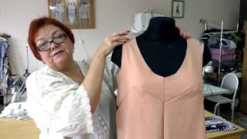 Выкройка летнего сарафана Как сшить платье своими руками Раскрой и примерка сарафана Часть 2