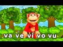 Sílabas va ve vi vo vu - El Mono Sílabo - Videos Infantiles - Educación para Niños