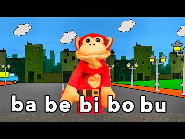 Sílabas ba be bi bo bu - El Mono Sílabo - Videos Infantiles - Educación para Niños