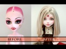 WORK IN PROGRESS RED RIDING HOOD (CHAPERON ROUGE) - MONSTER HIGH FACEUP HOW TO REPAINT A DOLL