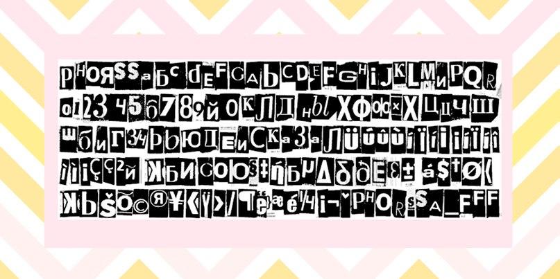 phorssa шрифт скачать бесплатно