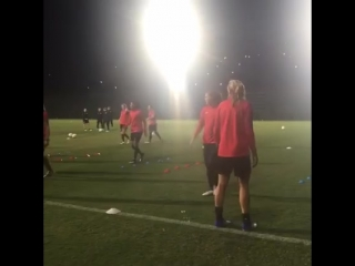 Training under the Friday night lights in Belo!
