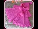 Вяжем спицами - розовая накидка для девочки. Часть 2