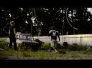Шван прыгает через машину
