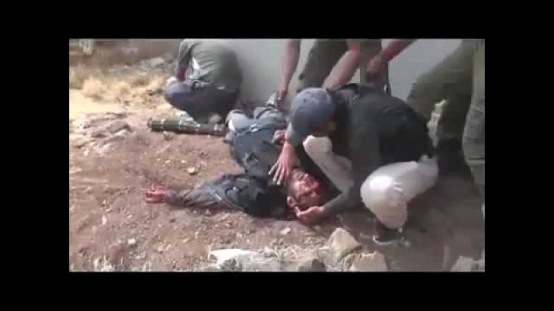 Syrian sniper killed precise shot to the head of the terrorist FSA.
