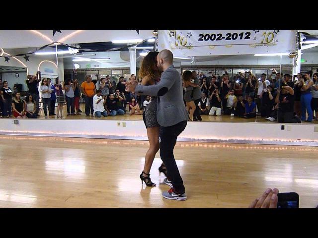 Ataca y La Alemana - Bachata Workshop - Spotlight Dance Fitness 4/24/13