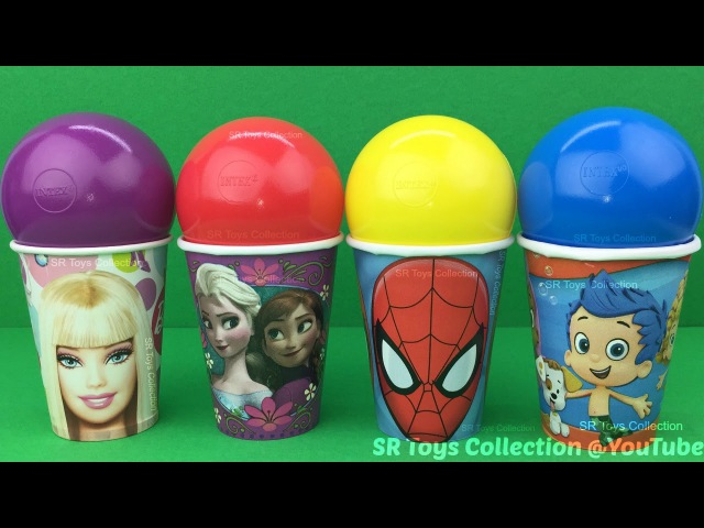 Spiderman Bubble Guppies Barbie Surprise Cups Finding Dory My Little Pony TMNT The Good Dinosaur Toy