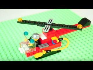 Собираем конструктор Лего. Пожарный вертолет Lego. Видео для детей.