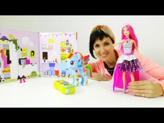 Видео для девочек. Маша, литл пони - Рейнбоу деш и кукла Барби.