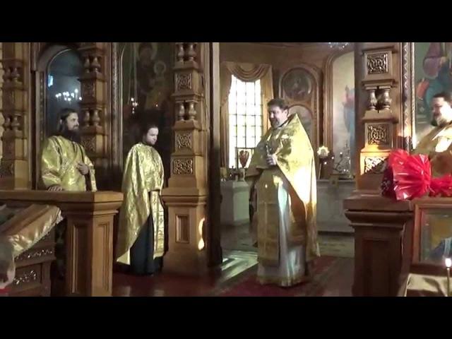 Настоятель Храма поздравляет диакона Сергия Чекоданова c Днём Ангела