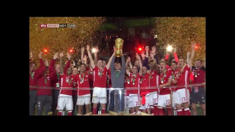 Bayern Munich Vs.Dortmund ◘ DFB Cup Final ◘ Penalty Shootout Trophy Lifting ►►21.05.2016 HD