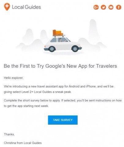 Google набирает добровольцев для тестирования нового туристического приложения