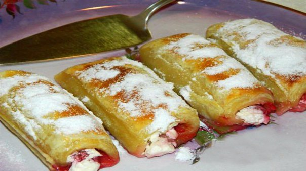 Пирог с малиной замороженной из слоеного теста рецепт