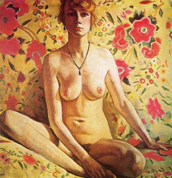Альбер Марке фр. Albert Marquet, 27 марта 1875— 14 июня 1947 La femme blonde (Femme blonde sur un fond de châle espagnol)